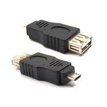 USB 2.0 Femelle À Micro USB B 5 Broches Mâle Plug OTG Adaptateur Convertisseur 10 pièces/lot Livraison Gratuite