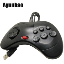 1pcs / USB Gamepad თამაშის Controller 6 ღილაკები SEGA USB Gaming Joystick მფლობელი PC MAC Mega Drive Gamepads