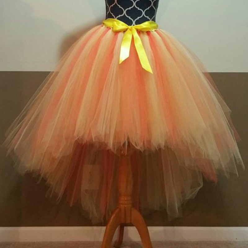 Halloween Available tutu skirt Fully LINED orange and yellow Tutu Adult tutu fairy cut edge bride tulle princess tutu skirt цена и фото