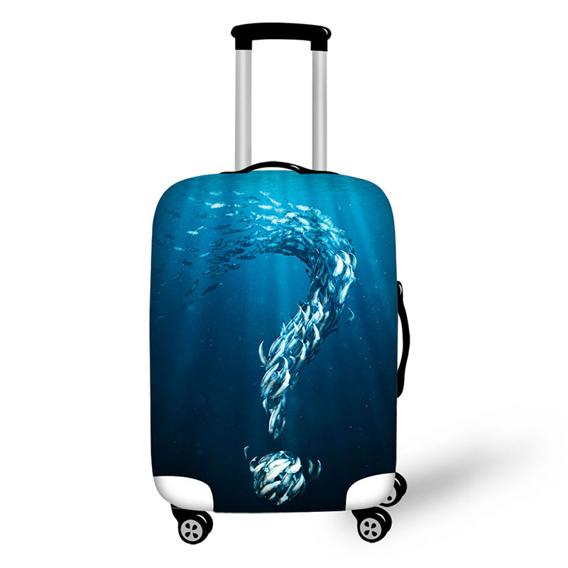 Suitcase Protective Cover Sea fish Trunk Case Apply to 18-30 inch Suitcase Elastic Thick Luggage Cover travel accessories