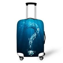 Lagaminų apsauginis dangtelis Jūros žuvų lagaminų dėžutė Taikoma 18-30 colių liemenėlių elastingiems storiems bagažinės dangčiams, kelionės reikmenims