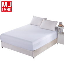 US RU Size Solid Color Sueding Fitted Sheet Adults Mattress Polyester / Cotton Elastic Band Drap Housse De Matela Highly 15-25CM