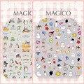 Ver detalle totoro y moomins 2 DISEÑOS Más Nuevos 1 P MAGICO serie del arte del clavo 3d pegatinas etiqueta del arte del clavo del arte del clavo stampingwholesale
