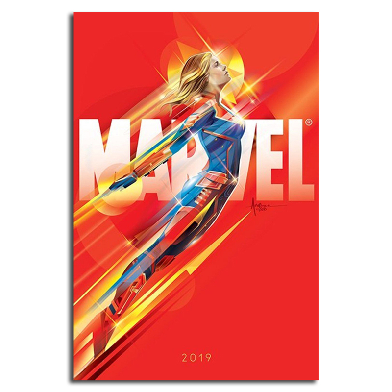 Comic Superheroes Captain Marvel Wall Art Canvas Posters Prints Painting Wall Pictures For Office Bedroom Home Decor Framework