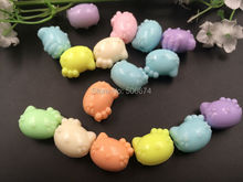 11/14mm 20pcs mix color candy Acrylic cat  hello ket ty Spacer Beads For Jewelry Making kid gift bracelet accessories diy beads