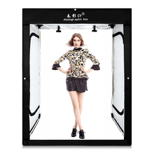 hot deal buy cy 8* led strips +200x120x100cm photo studio softbox shooting light tent soft box for model body portrait apparel photo shooting