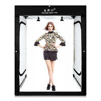 CY 8 * tiras LED + 200x120x100CM Softbox para estudio fotográfico tienda de campaña de iluminación Softbox para modelo de ropa de retrato de cuerpo sesión de fotos