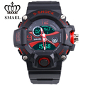 SMAEL Brand Sport Watch Men Dual Time Display LED Wristwatch Chronograph Quartz Watch Digital Electronic Watches S Shock WS1385B