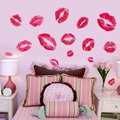 Hot Sale Kisses Wall Sticker Sexy Red Lips Wall Stickers Art Wallsticker Bedroom Decoration
