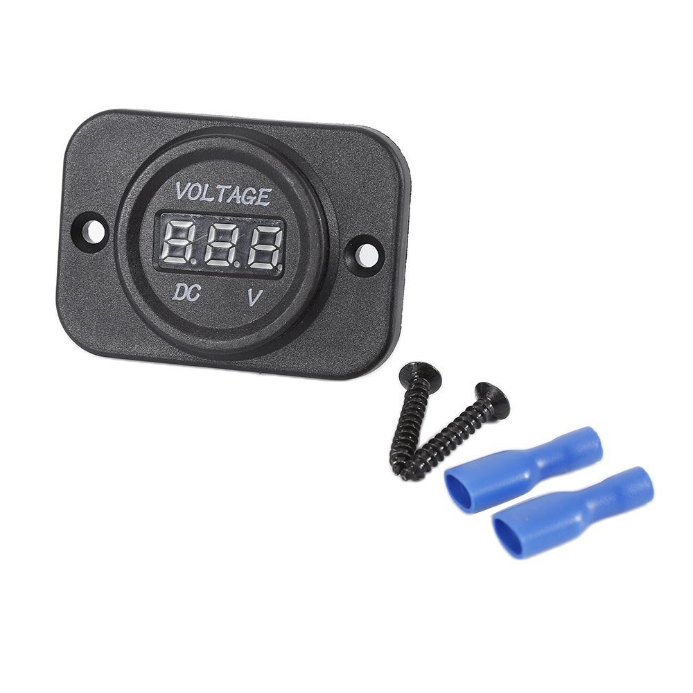 Ultra-thin LED Digital Display Voltmeter Voltage Meter Car Motocycle Hot Sale