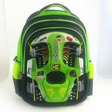 3D diseño de coches de dibujos animados mochila niño para la edad 3-8 años chico lindo de LA PU shell bolsa de la escuela