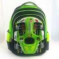 Projeto do carro dos desenhos animados 3D mochila da criança para a idade 3-8 anos de miúdo bonito shell PU bolsa escola