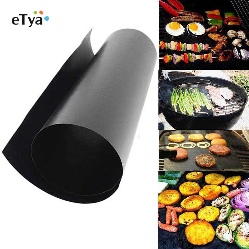 1PCS BBQ mats churrasco Tools Non Stick Teflon Baking Mat Reusable Barbecue Pad Sheet Baking Cooking Tools Kitchen Accessories