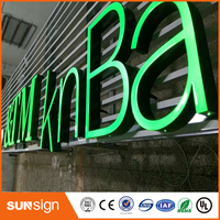 Advertising 3D Illuminated Channel letters resin led signs letters outdoor customized front lit open signs