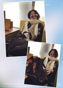 Image 5 - 2017 가을 겨울 스톨 여성 니트 판초 케이프 스트라이프 오버 사이즈 카디건 담요 롱 숄 스카프 캐시미어 pashmina