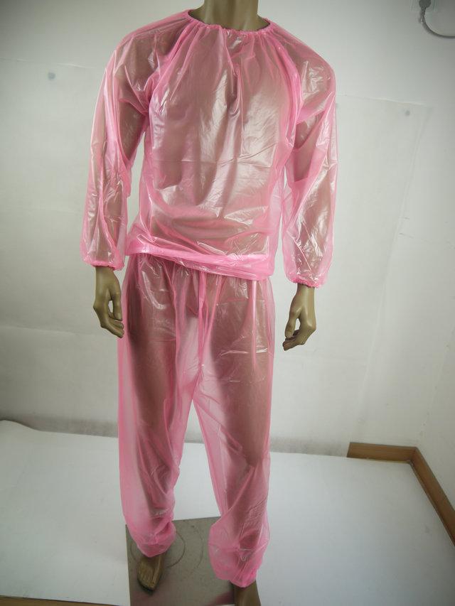 PVC unisex inkontinence jogging oblek # P013-5.Size: L / XL / XXL