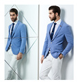New design Fashion Party Mens slim fit blazer Suit Jacket plus size light blue blazer