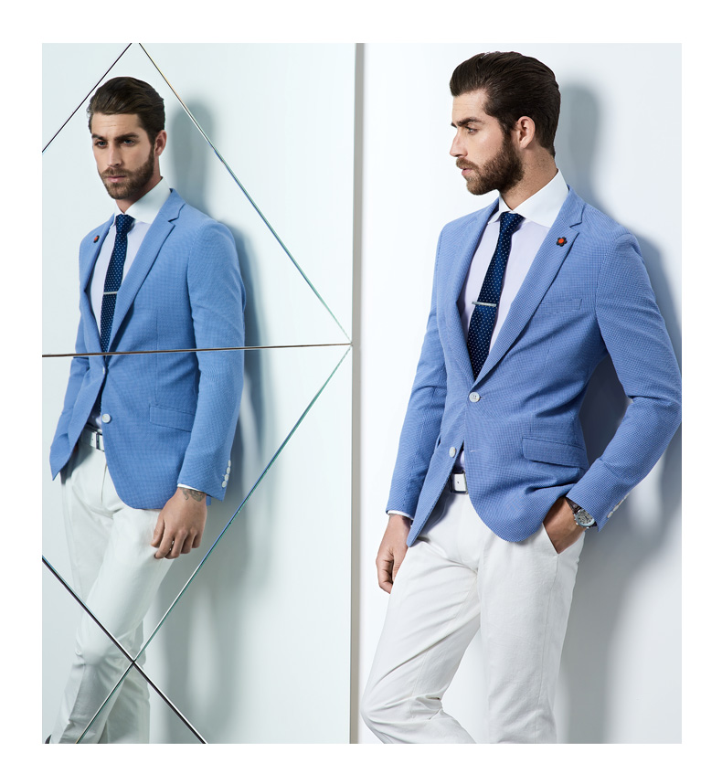 Popular Light Blue Blazer-Buy Cheap Light Blue Blazer lots from ...