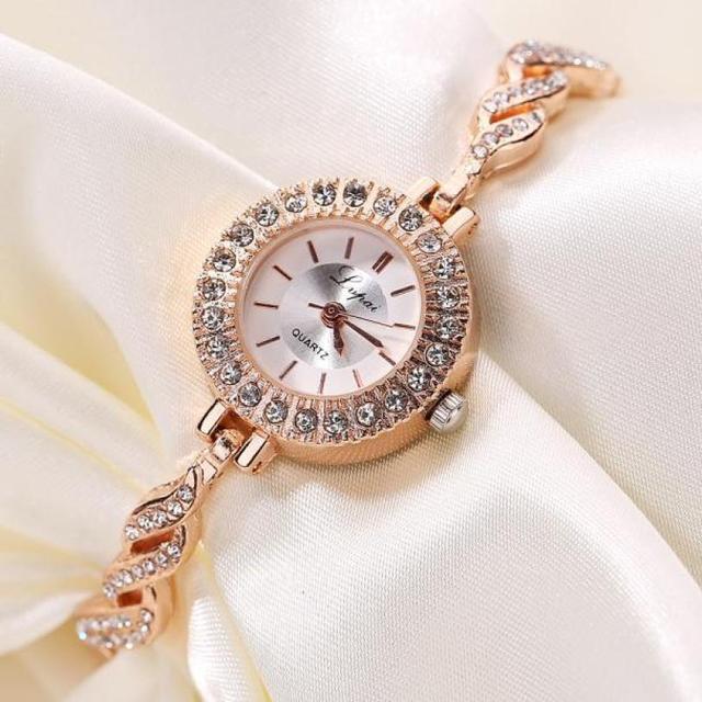 Relogio feminino Fashion Luxury Women Dress Bracelet Watch Fashion Crystal Quart