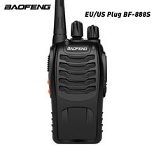 Baofeng BF 888S Walkie Talkie 5W el Pofung bf 888s UHF 400 470MHz 16CH iki yönlü taşınabilir CB radyo ücretsiz kargo