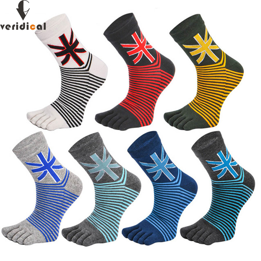 VERIDICAL free shipping 5 pairs/lot toe socks men good quality five fingers socks Fit EU39-45 cotton men boy short socks meias