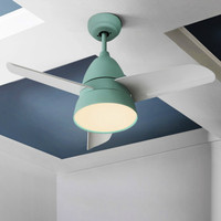 Nordic Restaurant Ceiling Fans Lamp Simple Modern Living Room Bedroom Ceiling Fan LED Remote Control Color Fan Macaroon Modern