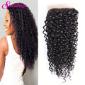 7A Malaysian Curly Closure Cheap Lace Closure Kinky Curly Closure Ali Moda Malaysian Curly Hair Virgin Kinky Curly Lace Closure