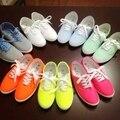 ПРОДАЖА Бесплатная доставка ЖЕНЩИН Холст хлопка производства обувь женские дышащие плоские небольшие белые туфли низкие повседневная обувь