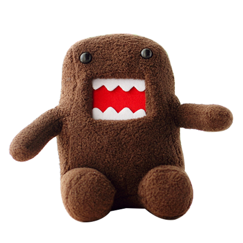 Hot Sale 1pcs 18CM Japan Domokun Funny Domo-kun Doll Children Novelty Creative Gift the Kawaii Domo Kun Plush Toys For Kids japan domo kun creative kawaii plush toys domokun film cartoon plush stuffed doll baby infant child toys birthday xmas gift dash