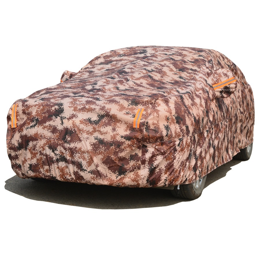 Waterproof Camouflage Car Covers Outdoor Sun Protection Cover SUV Two Layer Thickness Winter for Dust Rain Snow Protective Sedan car wind oxford waterproof car covers outdoor cotton sun protection dust rain snow protective suv sedan hatchback cover for car
