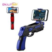 Enjoybay AR пистолет открытый игрушки 4D дистанционного зондирования игры геймпад Bluetooth Smart пистолет ж/держатель телефона игры пистолет игрушки для ios и Android