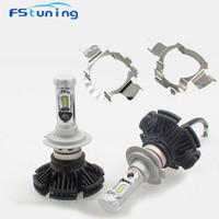 FStuning Canbus h7 LED headlight bulb with H7 led bulb holder adapter adaptor for audi A4 for BMW X5 H7 led headlamp socket base