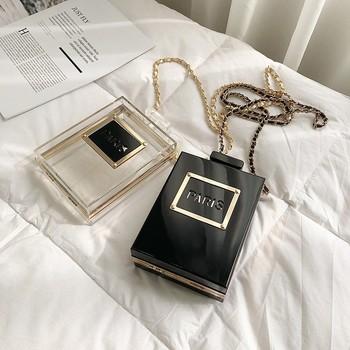 Luksusowa marka projekt dekoracja akrylowa sprzęgła kobiet torby wieczorowe wesele ręcznie łańcuch torby Crossbody torebki portfel sprzęgła tanie i dobre opinie VOULON Flap Torebki wieczorowe Z tworzywa sztucznego Hasp HARD NONE Moda luxury handbags women bags designer Akrylowe Wszechstronny