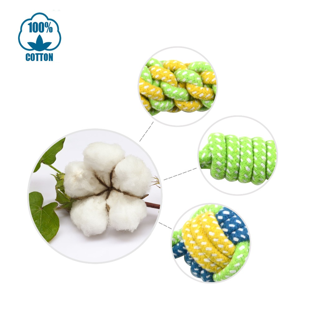 Pet Dog Cotton Rope Toy Dog 7 Pcs Chew Toys Honden Speelgoed Interactive Dogs Toys Tooth Cleaning Dog Love Throwing Bite Toys 4