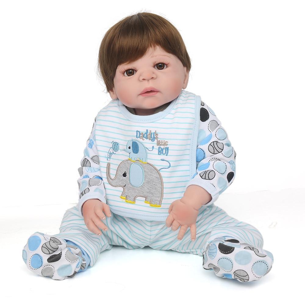 Silicone dolls reborn boy lifelike 22 55cm NPKDOLL reborn babies for children gift toys bebe brinquedos