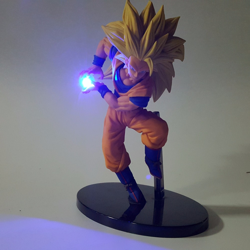 Dragon Ball Z Led Light Son Goku Kamehameha 150mm Anime Dragon Ball - Φωτιστικό νύχτας - Φωτογραφία 5