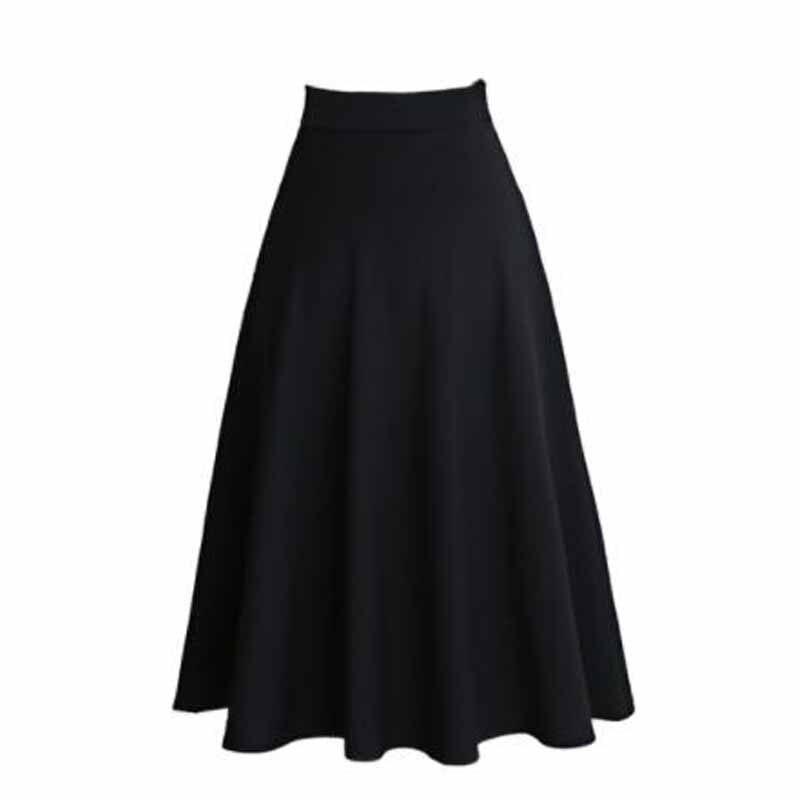 165a9ea1b3566 Aliexpress.com   Buy Women Skirts High Waist Skirt Autumn faldas mujer 2018  Plus Size Women Elegant Tutu Long Pleated Skirts Black Red Navy Skirts from  ...