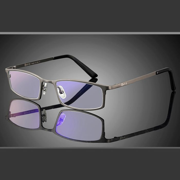 Lunettes d'ordinateur lunettes Anti rayon bleu titane cadre optique anti rayonnement et ultraviolet lunettes hommes UV400 8016