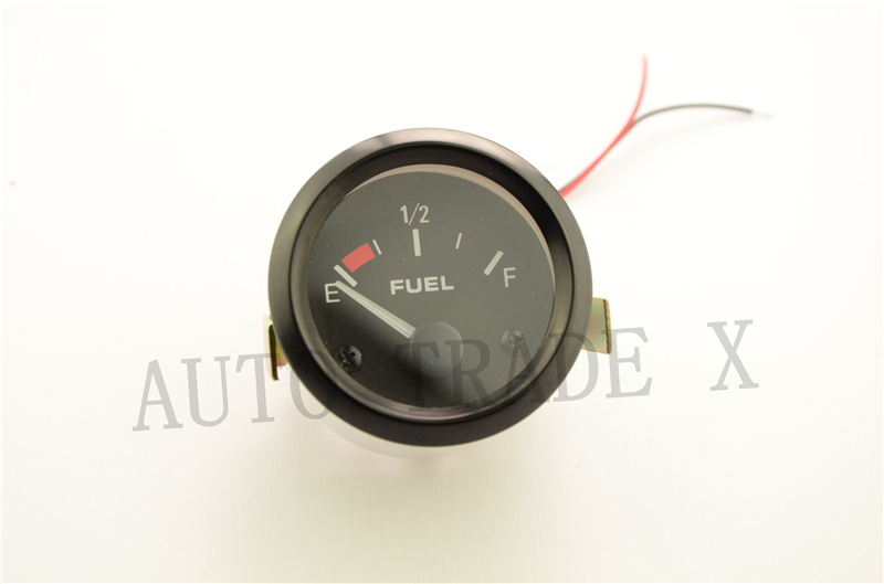 "Image 5 - 2"" 52mm Fuel Level Gauge Car Meter with Fuel Float Sensor White LED Light Black Rim Automotive Gauges 12V-in Oil Pressure Gauges from Automobiles & Motorcycles"