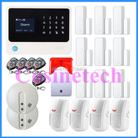 Newest G90B Wireless Wifi GSM Home Security Alarm System Touch Screen IOS Android APP Burglar Security Alarm Smoke Fire Detector