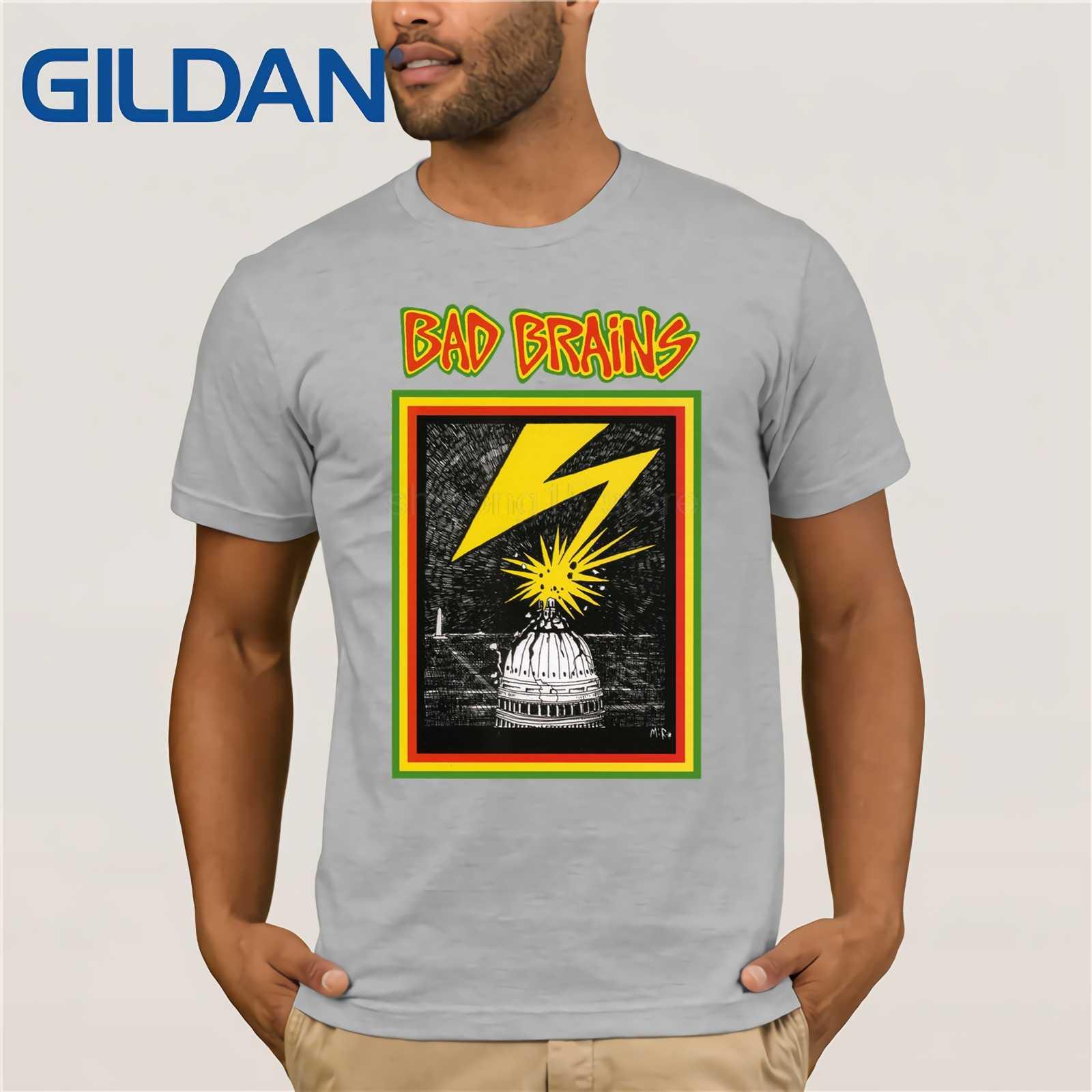 2c5c6a7b4feb ... Fashion New Top Tees Tshirts Official Bad Brains Distressed Vintage  Capitol Logo T-shirt S M L ...