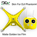 PGY DJI Phantom 4 PVC matte golden ice film  Skin Decal Stickers Vinyl Film phantom 4 Accessories drone Wrap Sheet Film Sticker