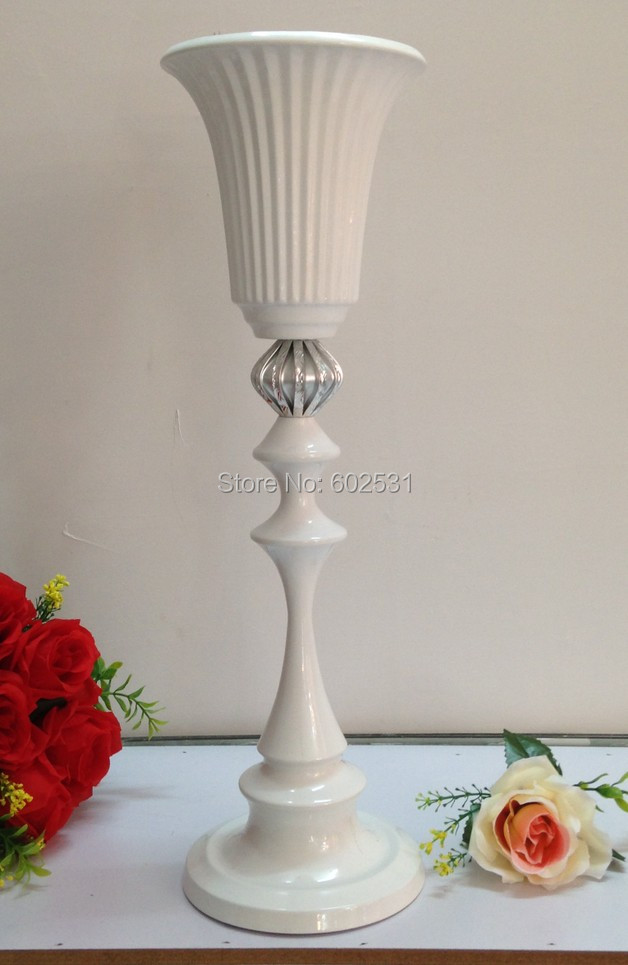 49cm high New! base dia: 5cm wedding table flower stands/flower vase for wedding table c ...