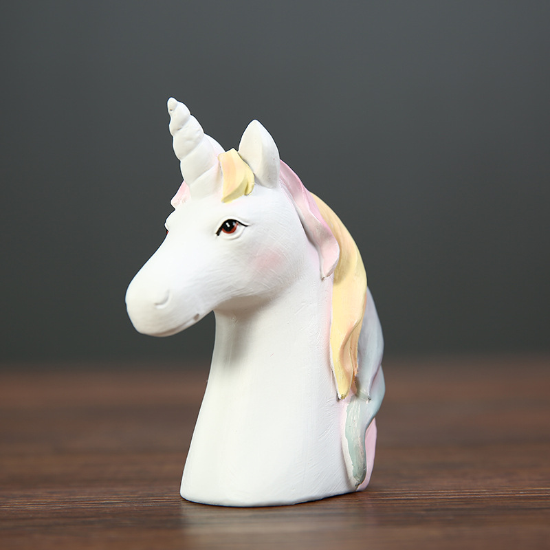 Nordic creative resin unicorn desk decoration home decor original unicorn table decor accessories dropshipping Animal in Figurines Miniatures from Home Garden