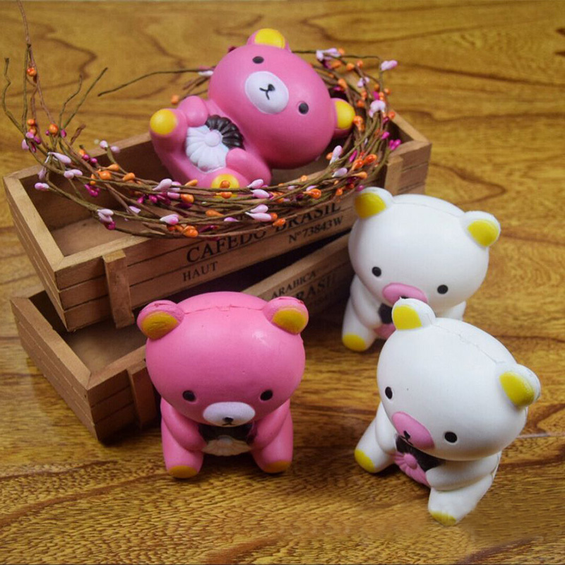 10cm Jumbo New Year Gift Bear Squishy Slow Rising Kid Toys Soft Scented Cake Cell Phone Straps DIY Decor Kids Fun Joke Gifts