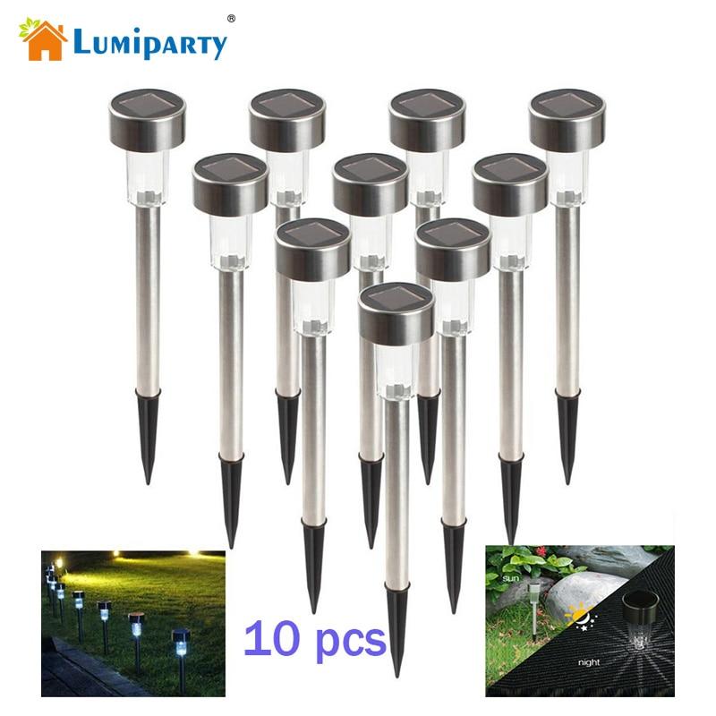 Lumiparty Hot 10 pcs Rostfritt stål LED Sollampa Utomhus - Festlig belysning - Foto 1