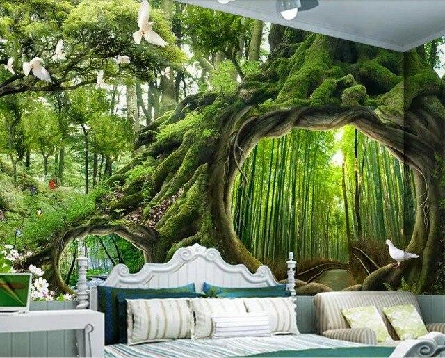 Verkauf Wald 3d tapete nach wandbild vlies tapeten für wohnzimmer ...
