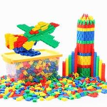 Montaż zabawek do rozwijania inteligencji, aby wstawić bloki diy punktor zabawka budowlana zabawki edukacyjne luzem dla dzieci prezent
