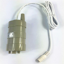 все цены на Miniature DC vertical submersible pump water pump large flow 1000L / H bathing machine shower head pump voltage 12V 5m онлайн