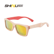 Free shipping  handmade  wooden bamboo sunglasses  polarIzed lens sunglasses sports sunglasses unisex oculos de de sol 68020